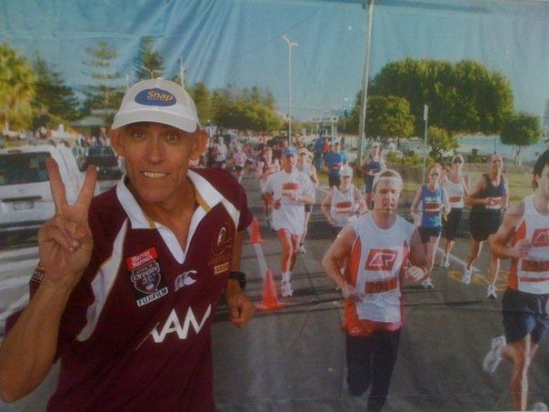 Brett Jackson aka Jacko gets in some virtual running on race eve