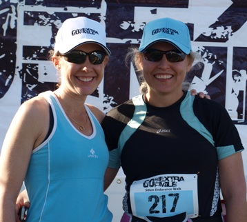Lisa Maj & Jo-ann Filmalter all smiles after a 50km epic.
